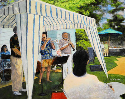 Painting - Boulder Lovers Of Jazz Summer Party by William Frew