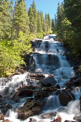 Agassiz Photograph - Boulder Pass Falls by Scotts Scapes