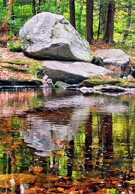 Photograph - Boulders Along Enders Brook 1 by Albert Seger