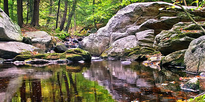Photograph - Boulders Along Enders Brook 2 by Albert Seger