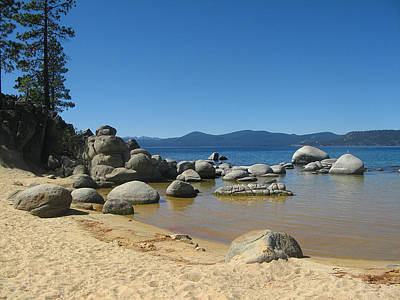 Photograph - Boulders At Lake Tahoe by Leontine Vandermeer