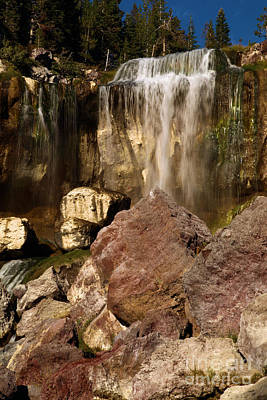 Photograph - Boulders Under The Falls by Adam Jewell