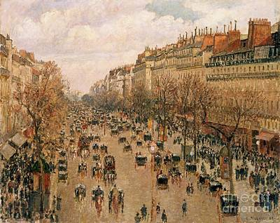 Painting - Boulevard Montmartre by Pg Reproductions