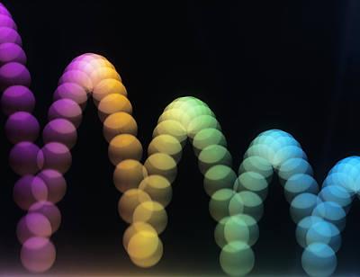 Bouncing Ball Art Print by Adam Hart-davis