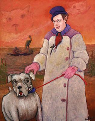 Humourous Painting - Boundaries by Paula Wittner