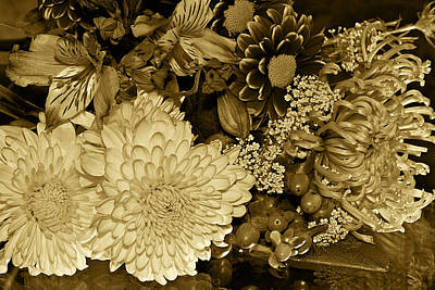 Bouquet In Sepia Art Print by Phyllis Denton