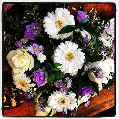 Photograph - Bouquet Of Flowers From Laura's by Carl Edge