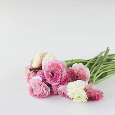 Bouquet Of Ranunculus Art Print by Elin Enger