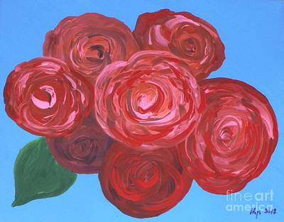 Art Print featuring the painting Bouquet Of Roses by Alys Caviness-Gober