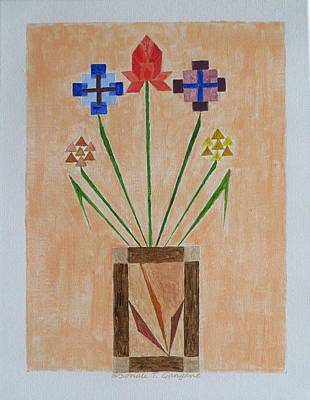 Art Print featuring the painting Bouquet by Sonali Gangane