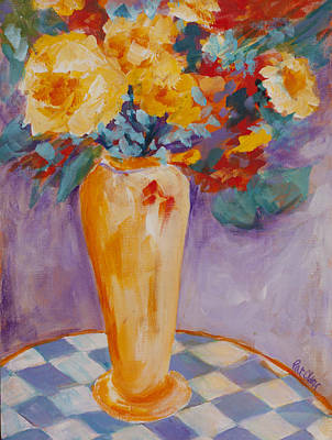 Painting - Bouquet With Checks by Pat Olson