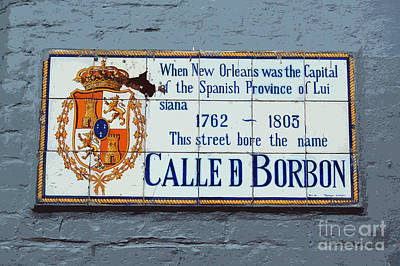 Digital Art - Bourbon Street Historic Plaque French Quarter New Orleans Cutout Digital Art by Shawn O'Brien