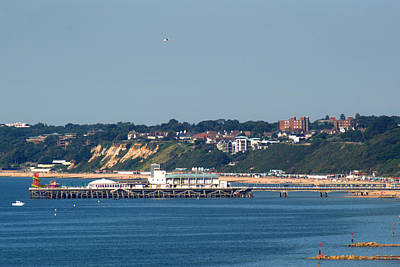 Photograph - Bournemouth Pier In Dorset by Chris Day