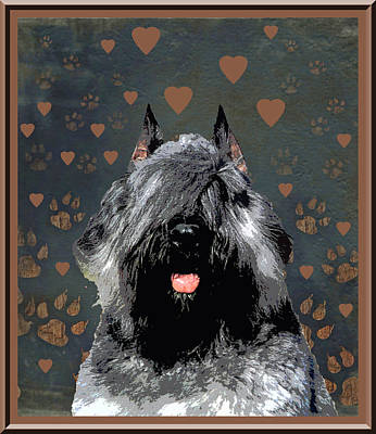 Bouvier Des Flandres Print by One Rude Dawg Orcutt