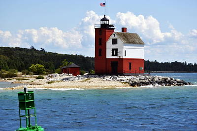 Photograph - Round Island Light House Michigan by Marysue Ryan