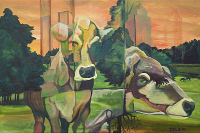Tree Roots Painting - Bovine Intervention by Tyler Auman