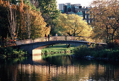 Bow Bridge Back Bay Boston Art Print by Tom Wurl