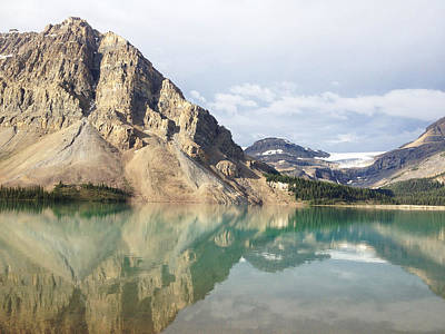 Y120831 Photograph - Bow Lake by William Andrew