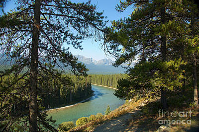 Art Print featuring the photograph Bow River by Bob and Nancy Kendrick