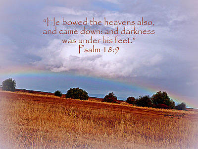 Photograph - Bowed Heavens Psalm 18 by Cindy Wright