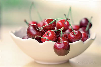 Food And Drink Photograph - Bowl Of Cherries by Photo Hélène
