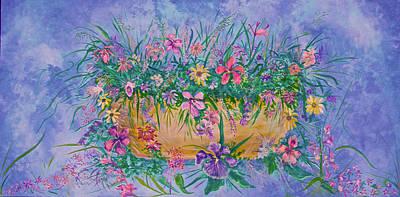 Bowl Of Flowers Art Print