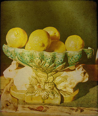 Photograph - Bowl Of Lemons by Jan Amiss Photography