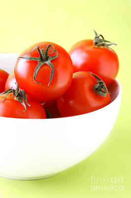 Bowl Of Tomatoes Art Print by HD Connelly