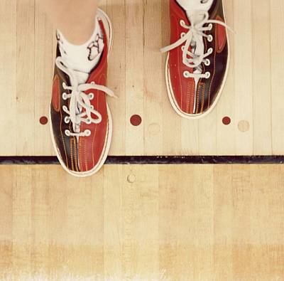 Bowler With Bowling Shoes Stepping Over Foul Line Art Print