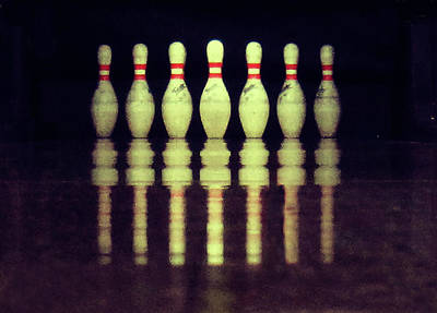 Photograph - Bowling Pins by Christoph Hetzmannseder