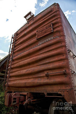 Photograph - Box Car by Leslie Leda