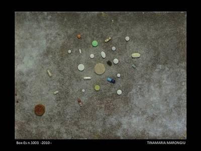 Pill Mixed Media - Box-es N-1003 by Tinamaria Marongiu