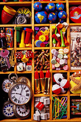 Compartments Photograph - Box With Compartments by Garry Gay