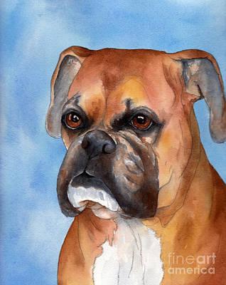 Boxer Dog Art Painting - Boxer by Cherilynn Wood