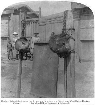 Boxer Rebellion Photograph - Boxer Rebellion, Heads Of Beheaded by Everett