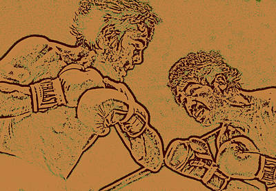 Knockout Mixed Media - Boxing by Charles Shoup