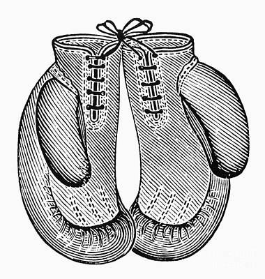Boxing Gloves, C1900 Art Print by Granger