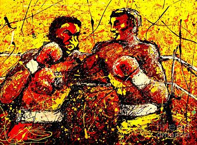 Artist Singh Painting - Boxing Match  by Artist Singh