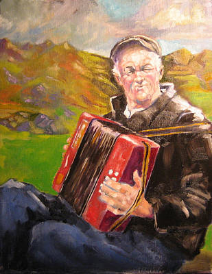 Accordian Painting - Boxplayer 2011 by Kevin McKrell