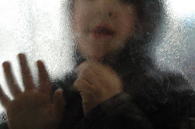 Photograph - Boy Behind Glass by Matthias Hauser