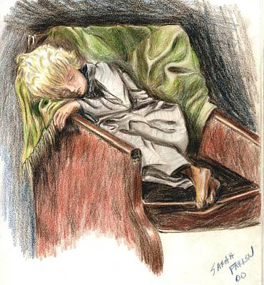 Drawing - Boy In Chair by Sarah Farren