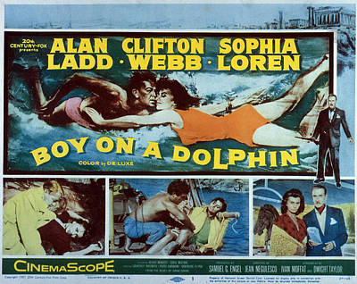 Boy On A Dolphin, Sophia Loren, Alan Art Print by Everett