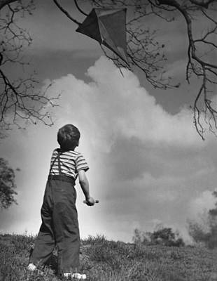 Boy Outdoors Art Print by George Marks