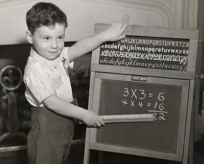 Boy Playing School Art Print by George Marks