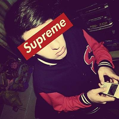I Phone Photograph - #boy #supreme #awesome #original by Its Dany