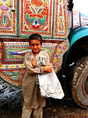 Photograph - Boy With A Jingly Truck by Fareeha Khawaja