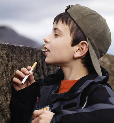 Boy With Cigarettes Art Print by Andy Harmer