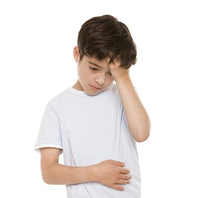 Boy With Stomach Pain Art Print by