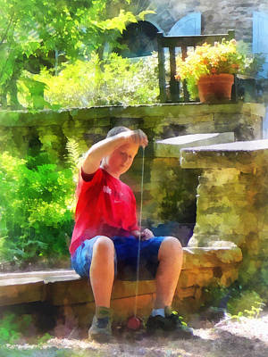 Park Benches Photograph - Boy With Yoyo by Susan Savad