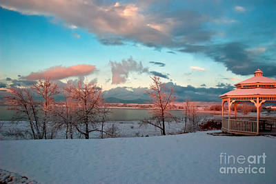 Photograph - Boyd Lake Winter Sunrise -2 by Harry Strharsky